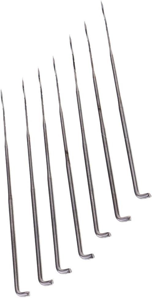 Baoblaze 7 Pieces Spiral Shaped Needle Felting Kits Handle Holder Wool Felt Set Sewing Tool