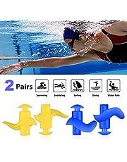 WOTEK Ohrstöpsel Schwimmen Erwachsene, 2 Paar Wasserdichter wiederverwendbarer Silikon-Gehörschutzstöpsel zum Schwimmen,für Schwimmer beim Duschen, Surfen, Wassersportarten