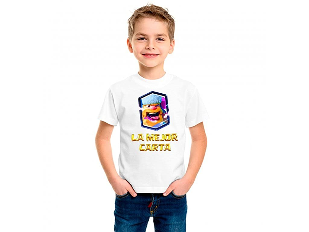 Camiseta Leñador Carta Clash Royale Infantil Manga Corta ...