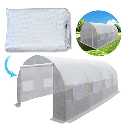 BenefitUSA Hot Green House Cover Replacement White for 20′ x 10′ x 7′ Larger Walk In Outdoor Plant Gardening Greenhouse (FRAME DOES NOT INCLUDED) (20′ x 10′ x 7′)