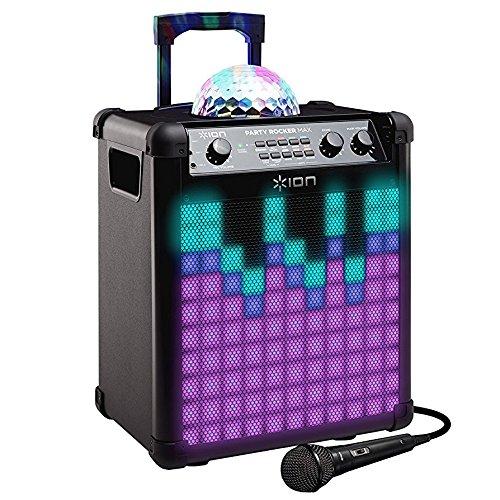 ION Audio Party Rocker Max Altavoz W con Bluetooth batería recargable cúpula