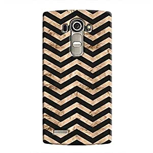 Cover It Up - Brown Black Tri Stripes LG G4 Hard case