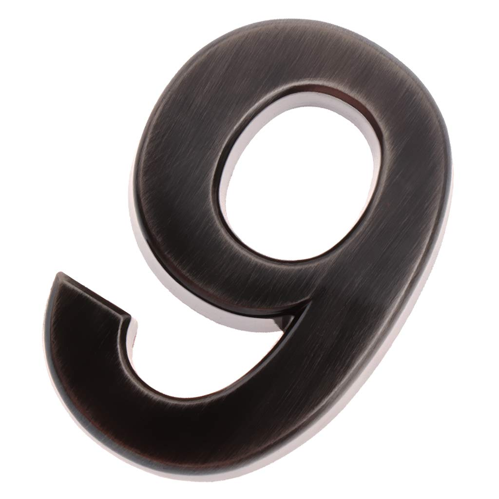 Number 0 Flameer Self-Adhesive House Address Digits Numbers Sign Stickers for Mailbox Apartment Hotel Door Address Number Sign
