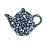 Polish Pottery Handmade Teapot Teabag Holder Traditional Stoneware Pattern 766-ylwdt
