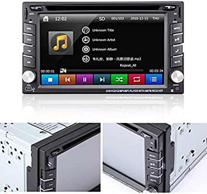 Amazon.com: Ehotchpotch 6.2 Car Stereo Radio Double 2 DIN ...