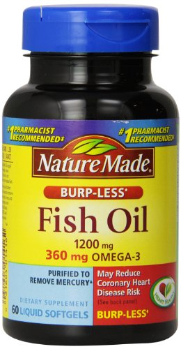 Nature Made Burp-Less Fish Oil Omega-3 1200mg, 60 Softgels (Pack of 3) (Natural Made Fish Oil 1200mg compare prices)