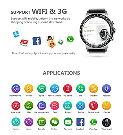 Amazon.com: ⌚ LEMFO Y3 The King - Android 5.1 Smart Watch with SIM Slot Waterproof Bluetooth GPS # Man/Woman (Silver and Brown): Cell Phones & Accessories