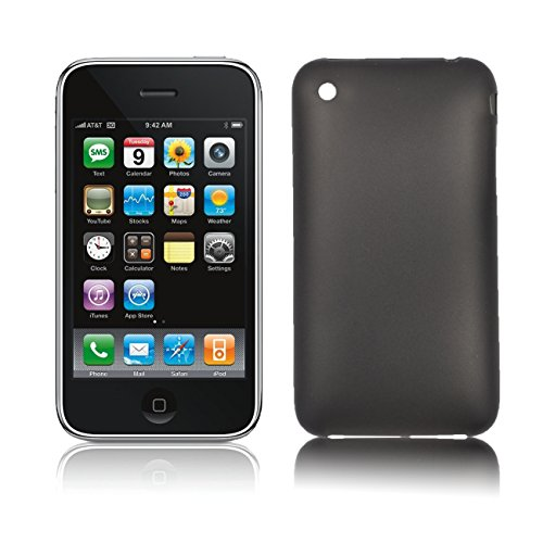 itreu Apple iPhone 3 3G 3GS Ultra Slim Case Cover Premium Schutzhülle Hülle Transparent 2er set schwarz + weiß