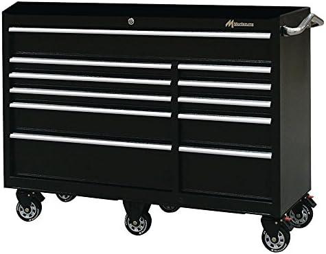 [해외]Montezuma 공구 상자 서랍 롤러 캐비닛 18 게이지 스틸 구조 및 블랙 파우더 코트 마감 / Montezuma Tool Box - 56 11-Drawer Roller Cabinet20 Gauge Steel Construction & Black Powder Coat Finish - ?BK5611TC