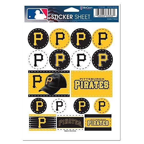 (WinCraft MLB Pittsburgh Pirates Vinyl Sticker Sheet, 5