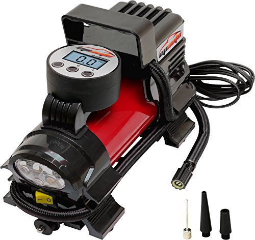 Package Red Power (EPAuto 12V DC Portable Air Compressor Pump, Digital Tire Inflator)