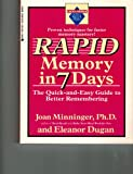 Rapid Memory in Seven Days, Joan Minninger, 0399521305