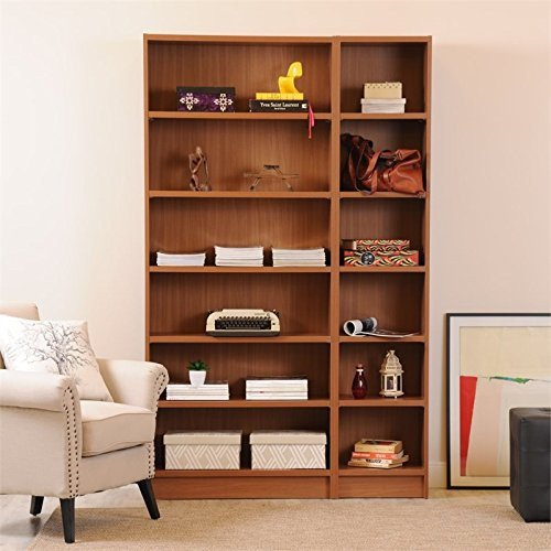 ioneyes 2-pc open shelving bookcases