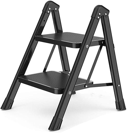 Escalera Del Taburete Inicio Escalera Plegable De Heces Cubierta Multifuncional Ascendente Escaleras 2 Paso Escaleras Escaleras Antideslizantes Con Apoyabrazos (Color : Black, Size : 47 * 54 * 59cm): Amazon.es: Bricolaje y herramientas