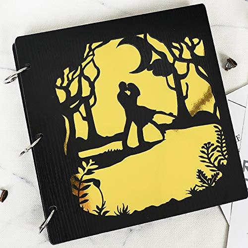 LiRuiPengXC GWDJ Photo Album, Wooden Laminating Pasted Buckle Album Book Lovers Practical Romantic Commemorative Book Hollow Child Growing Up Photo Album (Color : B, Size : 1#)