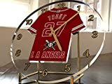 FanPlastic Mike Trout 27 Los Angeles Angels Desktop/Table Clock - Major League Baseball Legends Edition !!