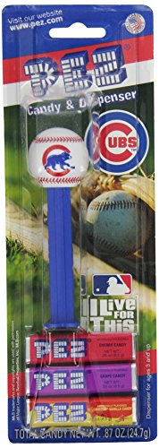 Candy Mlb - Chicago Cubs of MLB Pez Candy Dispenser, Pack of 12