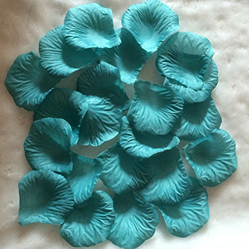 AllHeartDesires Teal Rose Flower Petals Wedding Table Confetti Bridal Shower Party Favor Decoration