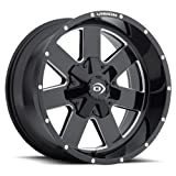 Vision 411 Arc Gloss Black Milled Spokes Wheel with Milled Finish (18x9''/8x180mm)