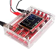 """GeeBat JYE DSO138 2.4"""" TFT 1Msps Handheld Pocket-size Digital Oscilloscope Kit Open Source with Probe, Acrylic DIY Case Cover Shell (SMD Soldered)"""