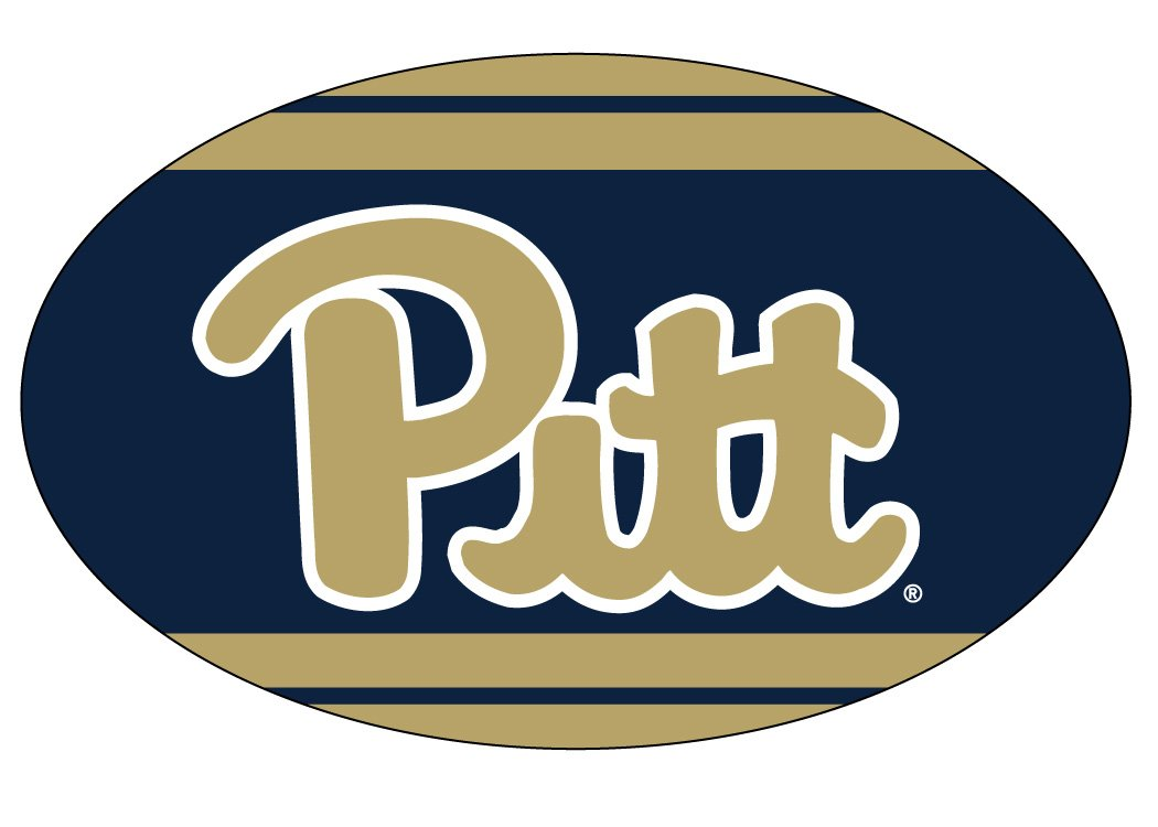 PITTSBURGH PANTHERS OVAL STRIPE DESIGN MAGNET-UNIVERSITY OF PITTSBURGH MAGNET-NEW FOR 2016