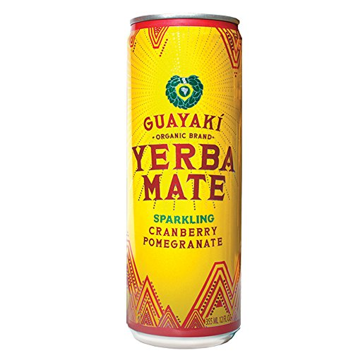 Organic Yerba Mate, Sparkling Cranberry Pomegranate, 12 Ounce (pack Of 12)