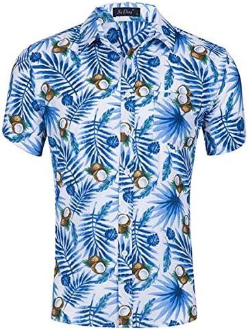 LFNANYI Camisa Hawaiana de Manga Corta para Hombre, Camiseta de Fiesta en la Playa, Moda de Coco, Estampado de Frutas, Camisas de Vestir Informales: Amazon.es: Deportes y aire libre