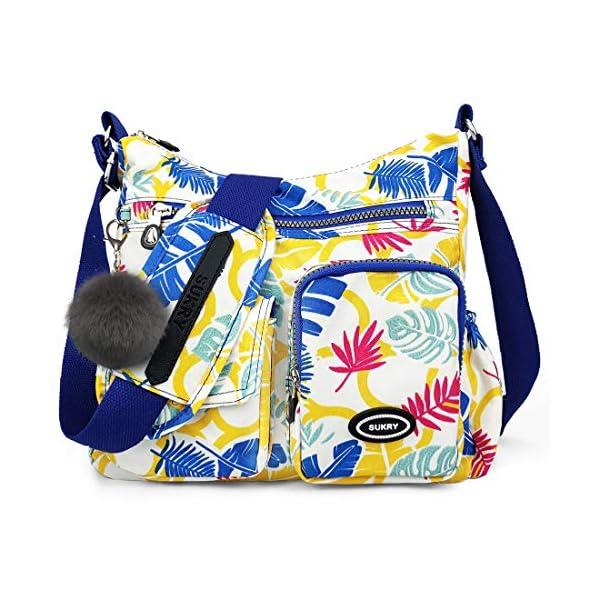 Nylon Crossbody Bag for Women with Anti theft RFID Pocket, Waterproof Shoulder Bag Travel Purses and Handbag