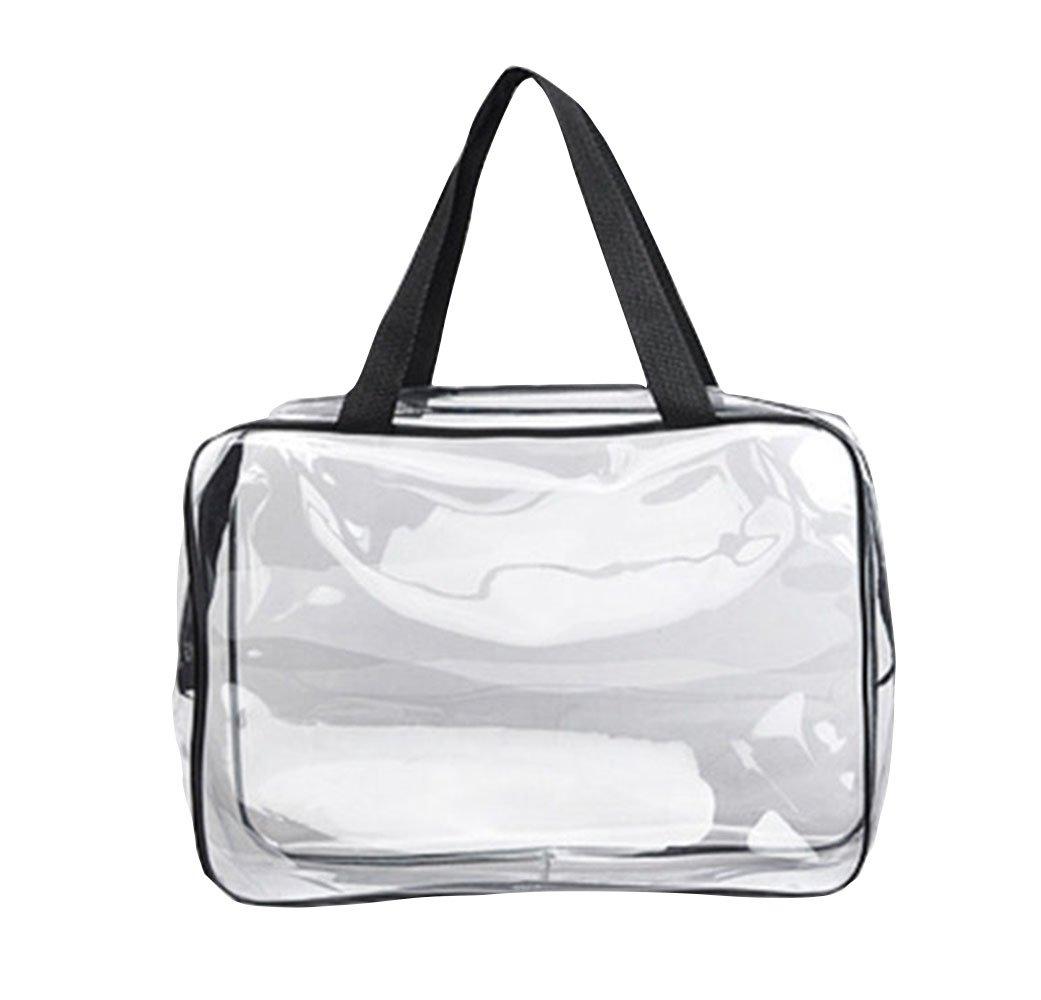 bigboba Pochette PVC Sac /étanche transparent Culture transparente Transparent Double fermeture /éclair Sac cosm/étique Grande Taille 30/* 10/* 22/cm