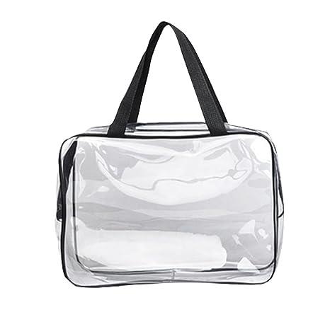 Gespout Neceser Maquillaje Cosméticos Bolsas Plásticos Organizador Almacenamiento Paquete Niña Mujer Playa Baño Lavado Bolso de Mano Viaje Impermeable ...