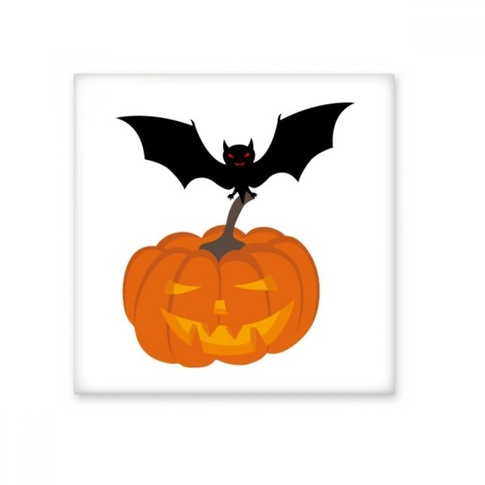 Bat Pumpkin Halloween Hallowmas Ceramic Bisque Tiles Bathroom Decor