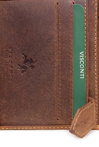 SPEAR Wallet SPEAR Wallet 708 Oil Leather Leather Tan Hunter Visconti Visconti 708 Hunter TO8zqzx