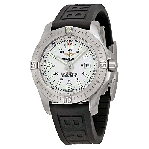 Breitling Colt Stratus Silver Dial Black Rubber Mens Watch A7438811-G792BKPD3