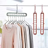 Premsons® Multi Functional Clothes Hanger Holder Portable Anti-Slip Storage Rack Space Saving Hook for Garment Drying (Colours May Vary) (Pack of 1)