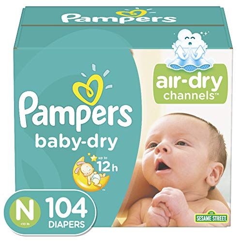 Pampers Baby-Dry Diapers Size 0, NewBorn (104 Count)