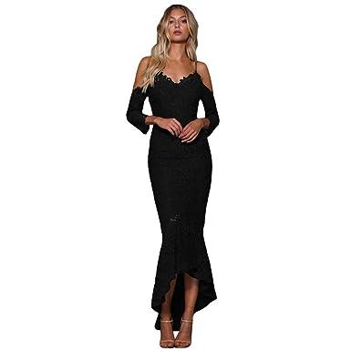 Amazon.com: FRTCV - Vestido de cóctel para mujer, sexy, con ...