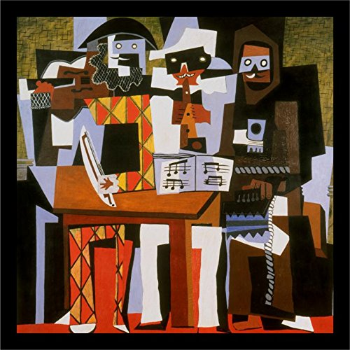 Buyartforless IF MMA1002 12x12 1.25 Black Plexi Framed Three Musicians by Pablo Picasso 12X12 Art Print Poster Museum (Pablo Three Musicians Framed Art)