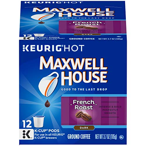 Maxwell House French Roast K-Cup Packs,12 Count (Pack of 6)