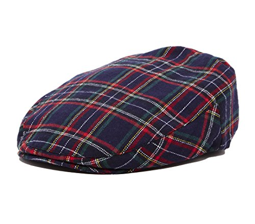 (Baby Kids Special Occasion Plaid Driver Cap (L 54 cm 4-5T, Navy Driver))