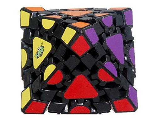 Lanlan Gear Octahedron Magic Cube with Black Base