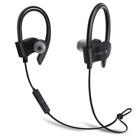 KIMKOO Auriculares Bluetooth 4.1 Sport Inalámbrico Headphone In Ear Stereo Cuello con Micrófono Resistente al Sudor