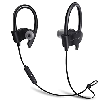 KIMKOO Auriculares Bluetooth 4.1 Sport Inalámbrico Headphone In Ear Stereo Cuello con Micrófono Resistente al Sudor para iPhone, Sony, Huawei, XIAOMI PC etc ...