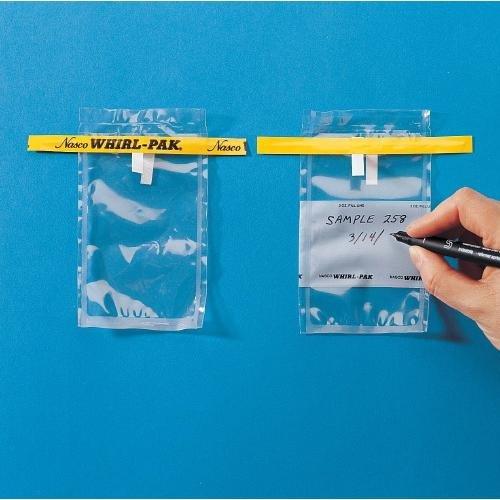 Nasco Whirl-Pak B01009WA Sample Bag, 125mm L x 75mm W, 0.057mm Thickness, 58ml Capacity (Box of 500) by Nasco