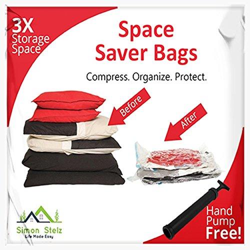 Simon Stelz 8-Pack Space Saver Vacuum Storage & Travel Roll-