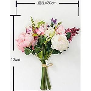 FYYDNZA Wedding Flower Classic Wedding Flower Flower Clove Peony Bouquet Emulation Flower Silk Flower 22