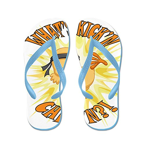 Verkligt Teague Mens Kickn Chickn Kampsport Bebis Chick Gummi Flip Flops Sandaler Caribbean Blue