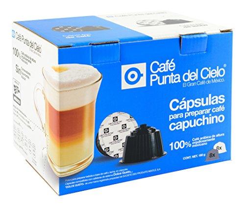 Café Punta del Cielo Capsulas Capuchino, 16 Piezas, color Azul Rey
