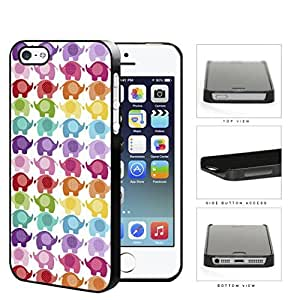 Colorful Mini Baby Elephant Pattern Hard Plastic Snap On Cell Phone Case Apple iPhone 5 5s