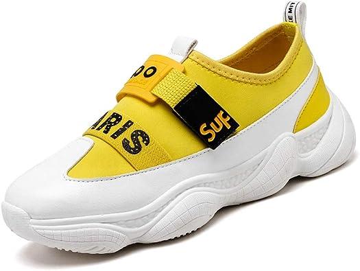 Hombres Zapatos Casuales Zapatillas de Deporte Ligeras y Impermeables Plataforma para Correr al Aire Libre Gimnasio para Caminar Entrenadores: Amazon.es: Zapatos y complementos