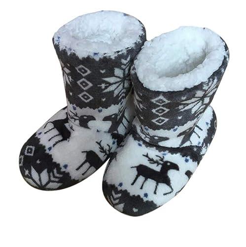 40a4a703efac4 Bota de Lana para Mujer Lovely Elk Christmas  Amazon.es  Zapatos y  complementos